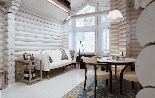 Внутренняя покраска деревянного дома