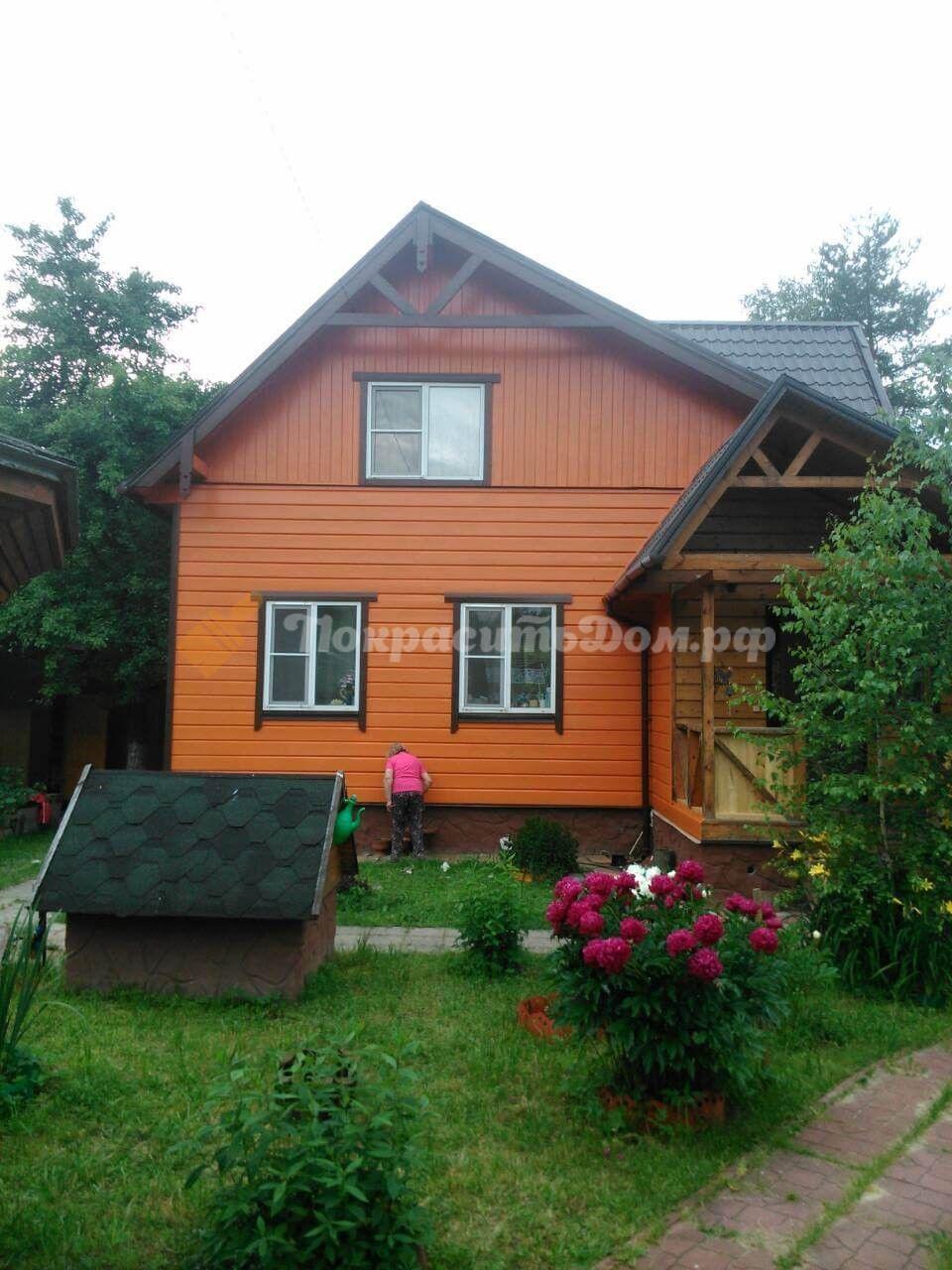 Покраска фасада дома и полная покраска беседки