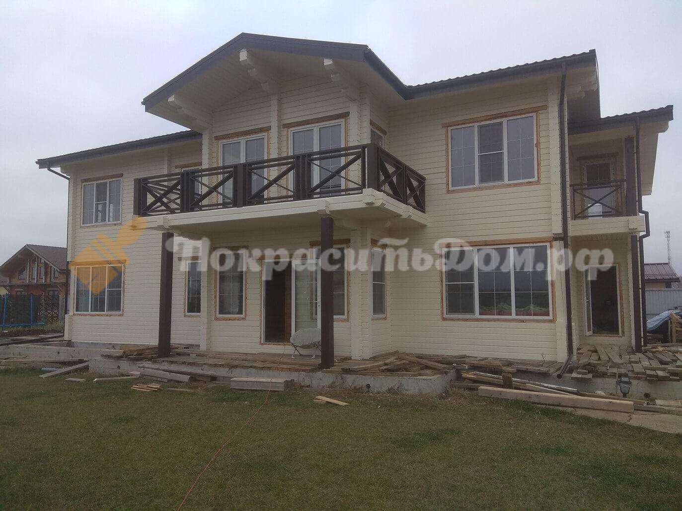 Покраска фасада дома и шлифовка в 1 проход внутренних помещений