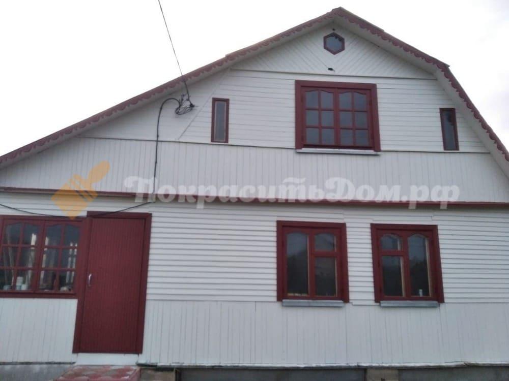 Реставрация фасада старого каркасного дома